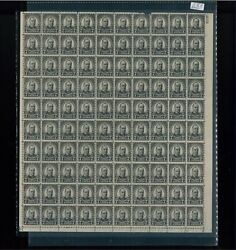 1926 United States Postage Stamp 588 Plate No. 18179 Mint Full Sheet