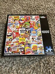 White Mountain Puzzles Vintage Cereal Boxes 1000 Pieces 20 X 27 New