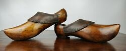 A Rare And Large Pair Of 19th Century Dutch Clogs.