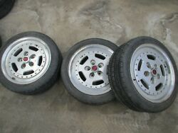 Jjd Twin Tyres Rare 5x100mm Fiero Etc. Serta France 16x8 5 Bs. 3 Only