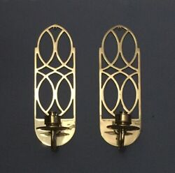 Set Of 2 17andrdquo High Quality Decorative Crafts Brass Wall Candle Sconces