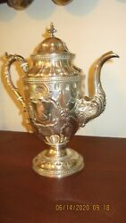 Incredible Wm Gale And Sons Coin Silver Coffee Pot 1851