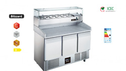New Bcc3pizza 3 Door Compact Gastronorm Pizza Prep Counter 368l / Two-year Wa...
