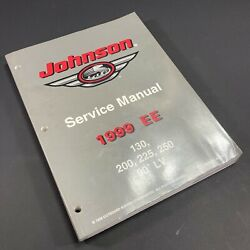 1999 Ee Johnson Outboard Motor Service Manual 130 200 225 250 90° Lv P/n 787032
