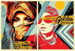 Obey Giant - Golden Future For Some Print By Shepard Fairey -signed And Numbered