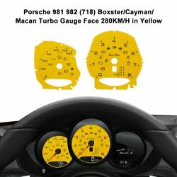 Porsche 981 982718 Boxster / Cayman / Macan Turbo Gauge Face 280km/h In Yellow