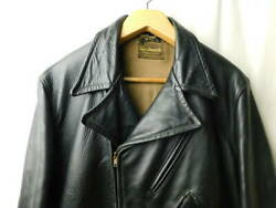 Vintage 1940and039s Windward Horsehide Leather Jacket Black Outerwear Rare