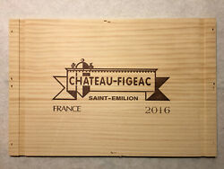 1 Large Rare Wine Wood Panel Chateau Figeac Vintage Crate Box Side 6/20 1144