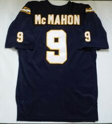 Vintage 1989 Jim Mcmahon San Diego Chargers Sand Knit Stitched Jersey Size 48
