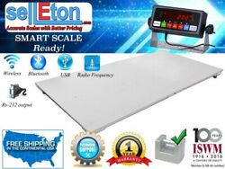 New Industrial 48 X 96 4' X 8' Warehouse Floor Scale With 20,000lbs X 1 Lb