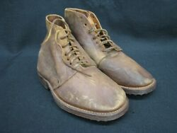 Rare Wwi French Mle 1915 Lace Up Ankle Field Boots Hobnail Soles And Heels 12m