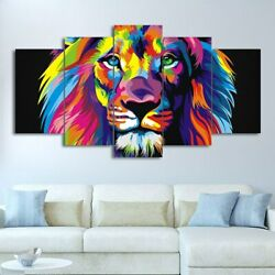 canvas Framed The Lion King colorful print Posters Wall print Art Home Decor