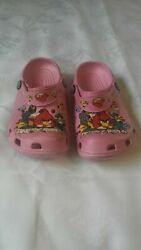 New Girls Angry Birds Slip On Sandals Shoes Slippers Pink Size L/4