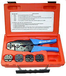 S And G Tool Aid 18920 Ratcheting Terminal Crimper Kit Crimps 22-10 To 22-16 Gauge
