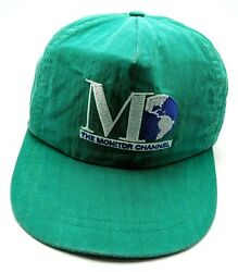 THE MONITOR CHANNEL 1990s vintage adjustable cap  hat - Christian Science $19.95