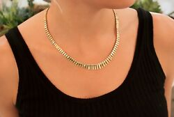 Cleopatra Gold Necklace With Moving Links In 14k Yellow Gold