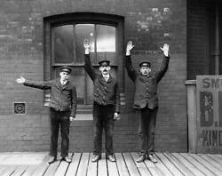 Old Train Photo Lancashire And Yorkshire Railway Demonstrating Hand Signals