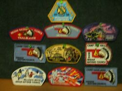 Lot Of 10 Bsa Indian Nations Council Patches Boy Scouts 1991-2009 New