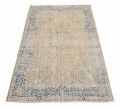 Handmade Rug 7and039 X 11and039 Earth Tone Antiqued New Worned Out Ideal Rug