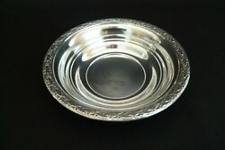Antique Sterling Silver Floral Rimmed Small Bowl Stieff Co Silversmiths 1950