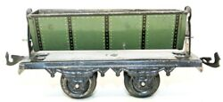 Vintage Pre-war Bing 0-gauge Tin Lithographed Small Coal/sand Freight Car
