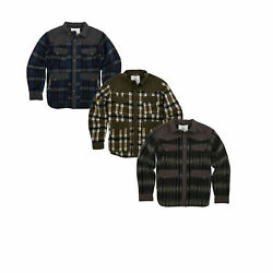 Smith And Wesson Menand039s Concealed Carry Range Shirt / Jacket 80510 Plaid Colors
