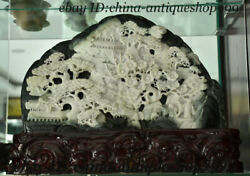 16 Chinese 100 Du Jade Pine Plum Blossom Flower Ancient Building People Statue