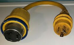 Charles Industries Marine Boat Shore Power Adapter 30a To 50a Pigtail. Preowned
