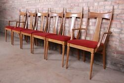 Paul Mccobb Style Mid-century Modern Dining Chairs By Heywood Wakefield