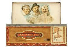 Scarce 1920s Dutch Humor Litho Flat Hinged 50 Cigar Tin In Very Good Condition