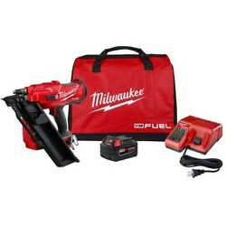 Milwaukee 2745-21 M18 Fuel 30 Degree Framing Nailer W/5.0ah Battery+charger