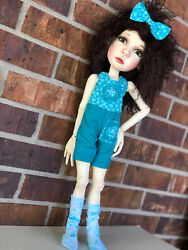 """Shorts And Crop Top Set With Accessories For 19"""" Big Stella By Connie Lowe"""