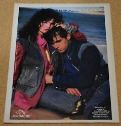 1985 Print Ad The Jordache Look Lady Man Jeans Jacket Clothing Style Fashion Her