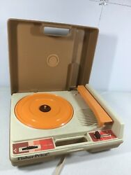 Fisher Price Turntable Record Player Portable 825 1978 Vintage 33 45 Rpm