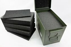 Solid Foam Kit Fits Your Fat50 50 .50 Cal Caliber Ammo Steel Can For Custom Work