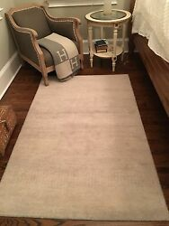 ABC Home amp; Rug set of 2 Light Gray amp; Cream Indian Wool Rugs 4x6