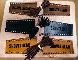 Leather Motorcycle Harley Davidson Shovelhead Lever Covers Black Tan Or Brown