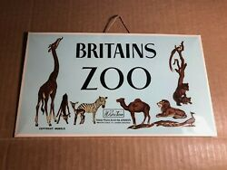 Extremely Rare Shop Display Sign | Britains Zoo | W Britain | Metal W/cardboard