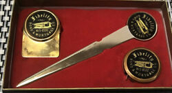 Fidelity Insurance 1960's Company Letter Opener Tape 5ft Measure Tape And Clip.