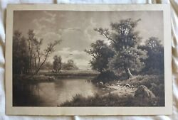 Taber Prang Print Evening's Cooling Shades By Adolf Chwala 3838 1902 11.5 X 18