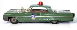 Vintage Japanese Tin Friction 1970and039s Ford 2-door Coupe Italian Police Car