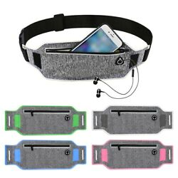 BE_ Waterproof Reflective Keychain Phone Belt Waist Bag Outdoor Running Fanny Pa $7.20