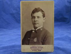 Loupret's Studio Cabinet Photo Lowell Ma Young Man Salvation Army Uniform Pin