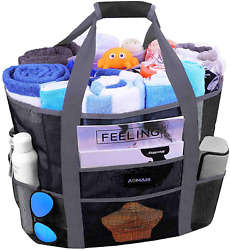 Mesh Beach Bags And Totes For Women Max Capacity 35L 150Lbs Durable Toy Tote Ba $24.99