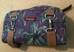 Po Campo Purple Bike Handlebar Bag Converts to Crossbody Purse with Brown Straps $17.50