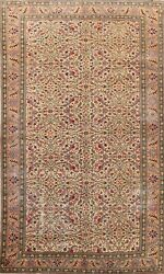 Vegetable Dye Antique Floral Anatolian Turkish Area Rug Hand-knotted Carpet 6x10