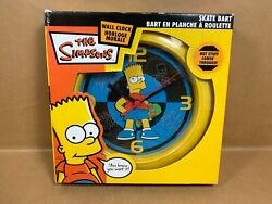 The Simpsons - Skate Bart - Wall Clock In Original Box 2006 - Free Shipping