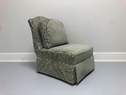 Theodore Alexander Althorp Slipper Chair In Minister Blue Chenille - A