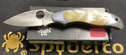 Spyderco Kopa Gold Mother Of Pearl New Discontinued 1 Of 600 Very Rare