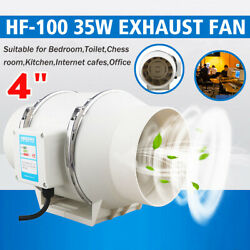 4/6 Inline Duct Fan Hydroponic Extractor Fan Vent Exhaust Air Blower Low